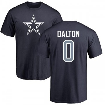 Men's Andy Dalton Dallas Cowboys Name & Number Logo T-Shirt - Navy