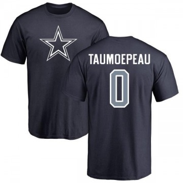 Men's Charlie Taumoepeau Dallas Cowboys Name & Number Logo T-Shirt - Navy