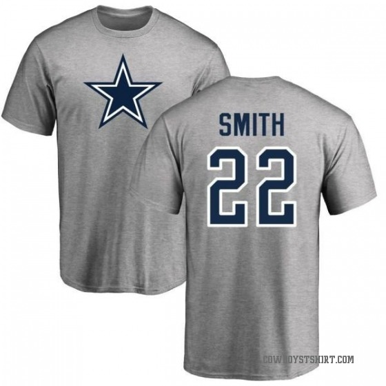 buy popular 1a5a7 93d58 Men's Emmitt Smith Dallas Cowboys Name & Number Logo T-shirt - Gray