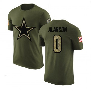 Men's Isaac Alarcon Dallas Cowboys Olive Salute to Service Legend T-Shirt
