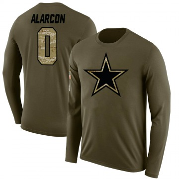 Men's Isaac Alarcon Dallas Cowboys Salute to Service Sideline Olive Legend Long Sleeve T-Shirt
