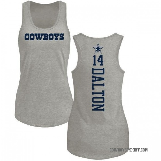Women's Andy Dalton Dallas Cowboys Backer Tri-Blend Tank Top - Ash