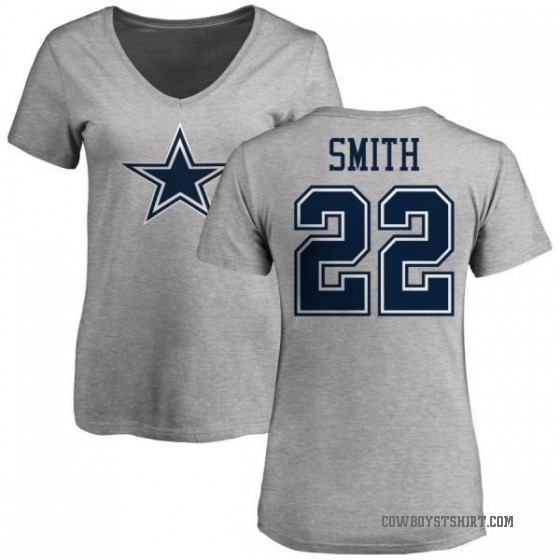 premium selection b469a 0ceb7 Women's Emmitt Smith Dallas Cowboys Name & Number Logo T-Shirt - Ash
