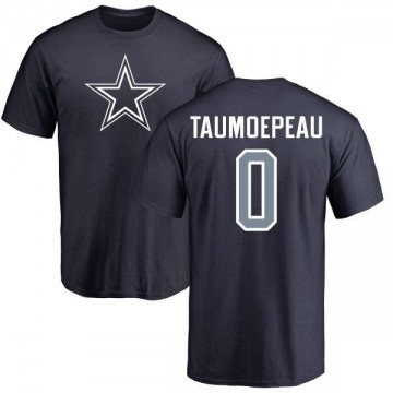 Youth Charlie Taumoepeau Dallas Cowboys Name & Number Logo T-Shirt - Navy