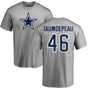 Youth Charlie Taumoepeau Dallas Cowboys Name & Number Logo T-shirt - Gray